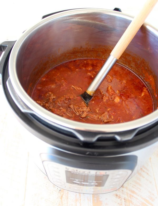 Create the delicious taste and texture of a slow cooked beef ragu sauce in under an hour with this Instant Pot Beef Ragu recipe!