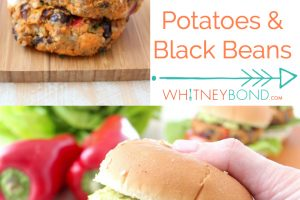 Black Bean Veggie Burger Image with Text