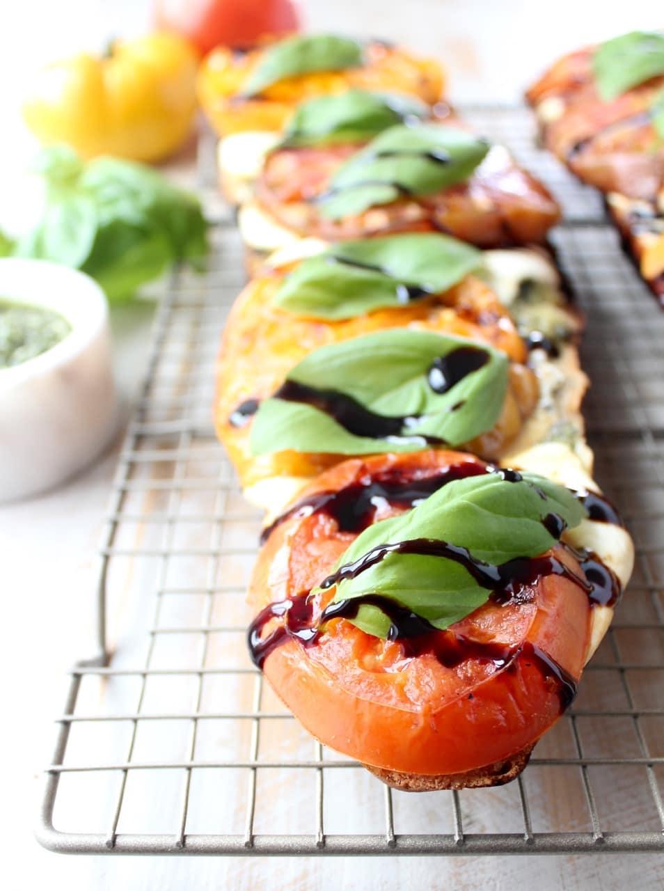 Grilled Tomato Caprese French Bread Pizza Recipe