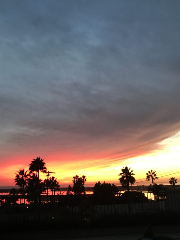 Sunset view in San Diego