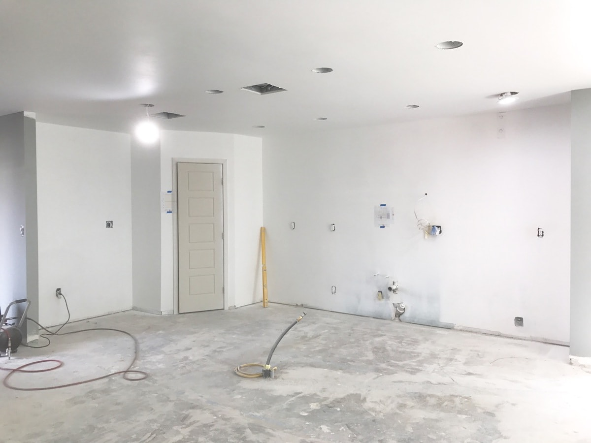 Completed Drywall in Kitchen