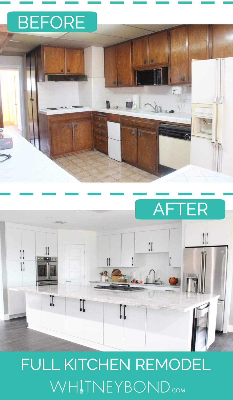 ... Kitchen Remodel Reveal: Before U0026 AfterFull Resolution (1400 × 2400)