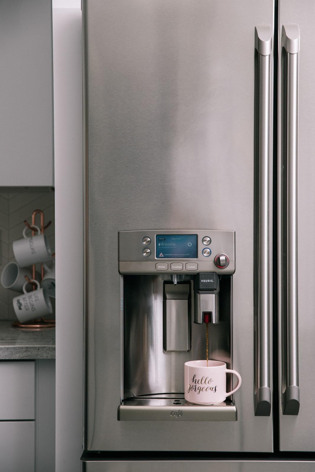 GE Wifi Cafe Smart Refrigerator with Built In Keurig