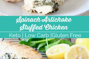 Spinach Artichoke Stuffed Chicken - Keto | Low Carb | Gluten Free