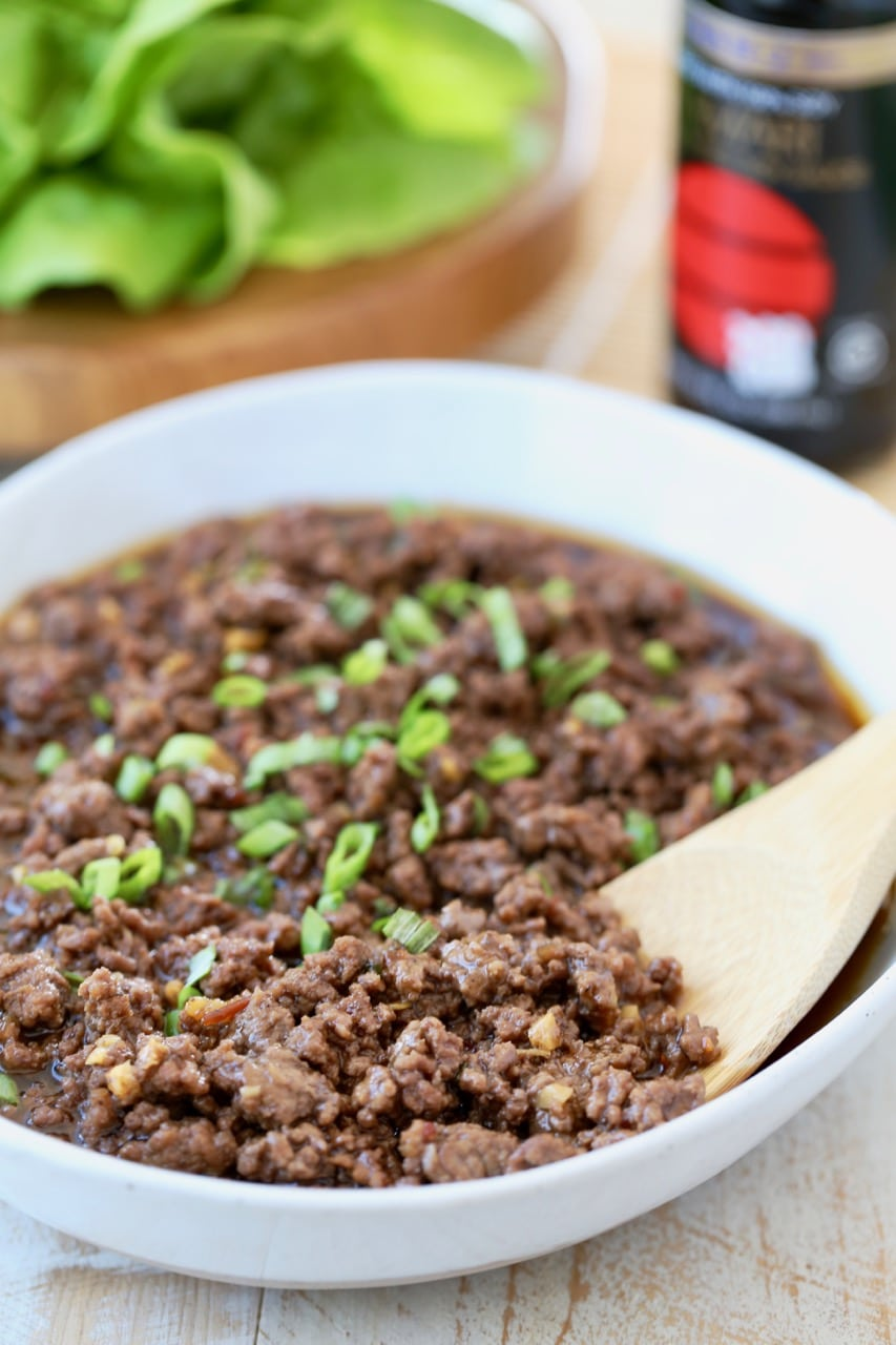 Korean BBQ Beef in a Bowl with Diced Scallions