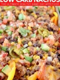 mini pepper nachos on sheet pan