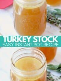 turkey stock in mason jar