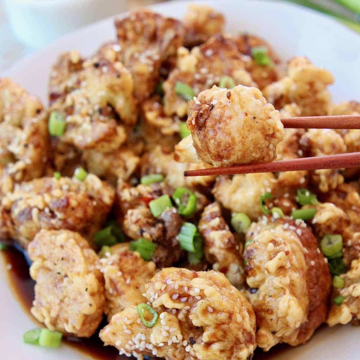 Korean Fried Cauliflower Vegetarain Recipe Whitneybond Com