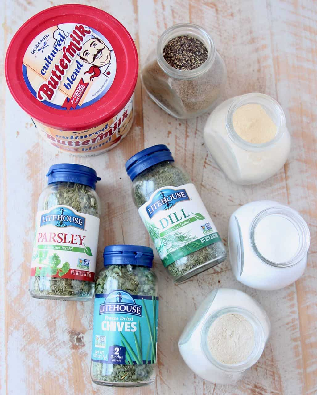 Ingredients for ranch seasoning mix