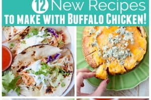 Collage of buffalo chicken recipes