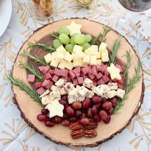 Christmas tree cheese and charcuterie board