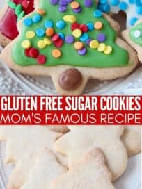 gluten free cut out sugar cookies on plate