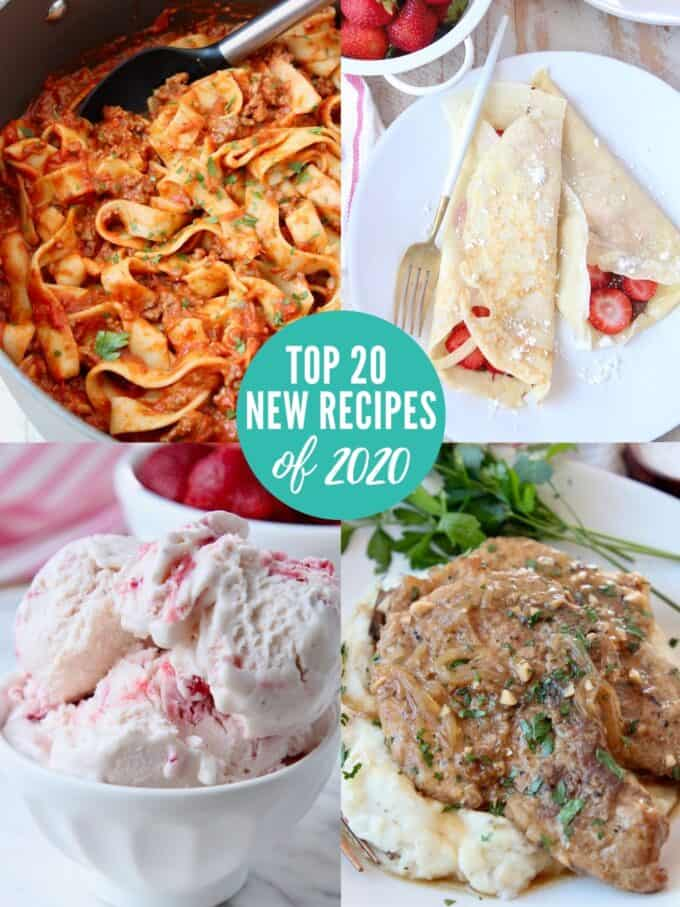 collage of images showing popular recipes in 2020