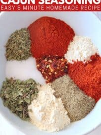spices in white bowl
