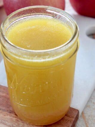 fuji apple salad dressing in mason jar